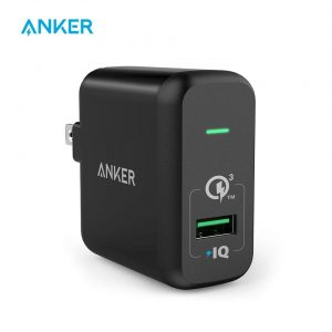 Anker PowerPort+ 1 With Quick Charge 3.0 USB A Charger EU Plug [A2013] – Black