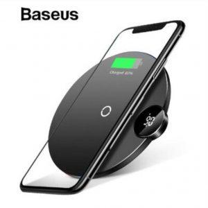 Baseus LCD Display Wireless Qi Charger 5w-7.5w-10w – Black