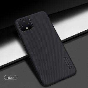 "For Google Pixel 4 NILLKIN Frosted PC Matte Hard Back Cover With Gift Phone Holder 5.7"" -Black"