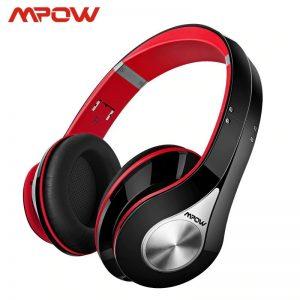 Mpow 059A Bluetooth Over-Ear Headphones – RedBlack