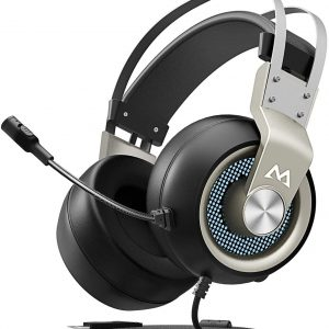 Mpow EG3 Gaming Headset USB Wired,7.1 Surround Sound, Soft Imitation Protein Earmuff,Over-