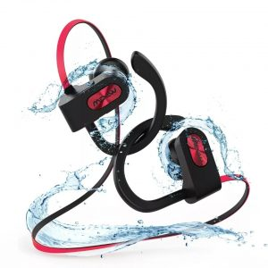 Mpow Flame 1 Bluetooth Headphones Sport IPX7 Waterproof Wireless Sport Earbuds, Richer Bass HiFi Stereo In-Ear Earphones, 7-9 Hrs Playback – Red