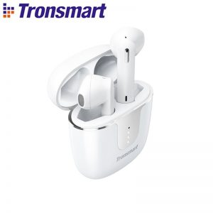 Tronsmart Onyx Ace TWS Bluetooth 5.0 Earphones Qualcomm AptX Wireless Earbuds Noise Cancellation With 4 Microphones,24H Playtime – White