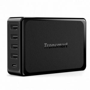 Tronsmart U5P 5-Port USB Quick Charger 60W USB-C Power Delivery Desktop Charger