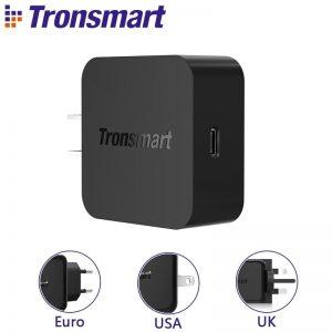 Tronsmart WCP01 PD,QC3.0 Type C 18watt Charger EU Plug – Black