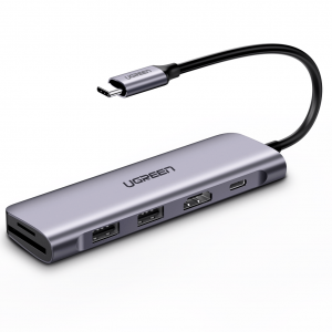 Ugreen Type C HUB – 6-In-1 USB C PD Adapter With 4K HDMI [CM195]