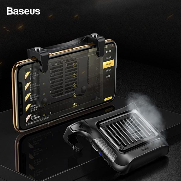 Baseus Winner PUBG Triggers With Cooling Heat Sink Holder For Smartphone [SUCJLF-01] – Black
