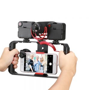 Anti-Shake Handle for Mobile Rig Supports Video Recording Vlogging Mobile Holder